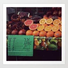 Fresh orange juice Art Print