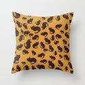 Too many kitties Leopard print Throw Pillow