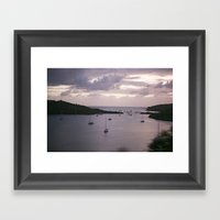 Grenada Sunset Framed Art Print