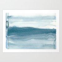 indigo shibori 04 Art Print