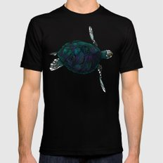 Sea Turtle Black Mens Fitted Tee SMALL
