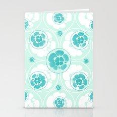 Green Lemon Pattern Stationery Cards