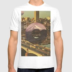 City Transport White SMALL Mens Fitted Tee