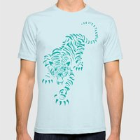 Tiger Mens Fitted Tee Light Blue SMALL