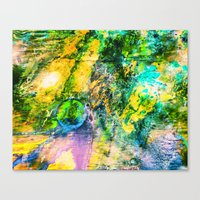 My Sister lives On The Large Green Planet Canvas Print