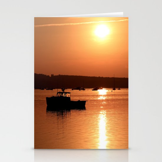 Beach Sunset Stationery Card