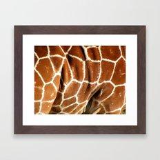 Giraffe Skin Close-up Framed Art Print