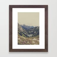 Framed Art Print featuring Mountain Flowers by Kurt Rahn