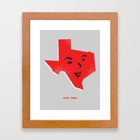 Happy Texas Framed Art Print