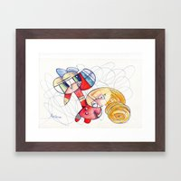 Don´t panic babe! I´m comming to rescue you ;) Framed Art Print