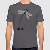 Here, There & Back Again… Mens Fitted Tee Asphalt SMALL