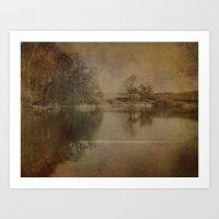 Throxenby Mere Art Print