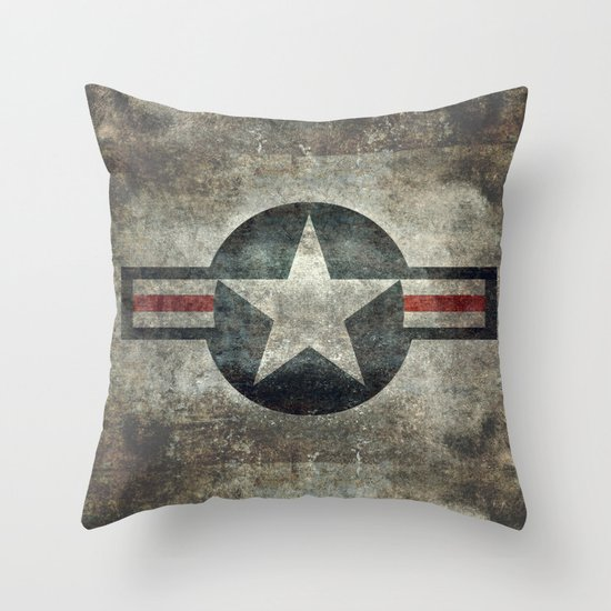 Stylized usaf star symbol roundel 1 throw pillow by for Decor 6 air force