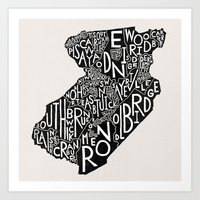Middlesex County, New Je… Art Print