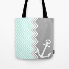 Nautical Chevron Tote Bag