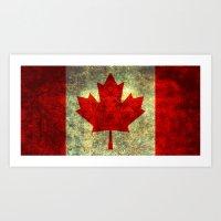 Oh Canada! Art Print
