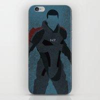 Commander Shepard iPhone & iPod Skin