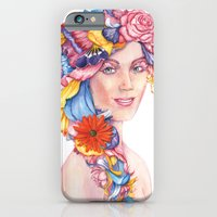 iPhone & iPod Case featuring Goddess : Flora by Stephane Lauzon