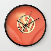 Big Orange Wall Clock