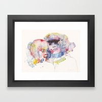 looking for you in my own color wave Framed Art Print