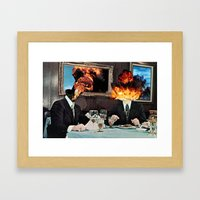Every Act of Creation is First an Act of Destruction Framed Art Print