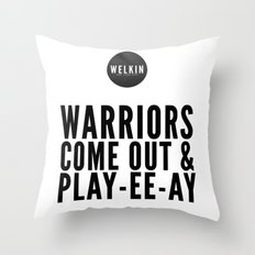 warriors Throw Pillow