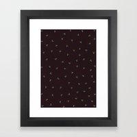 Triangle Dot Color Design Framed Art Print