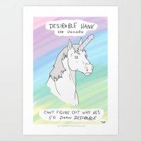 Unicorn, Penis horn Art Print
