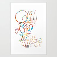 Who are your heroes? Art Print