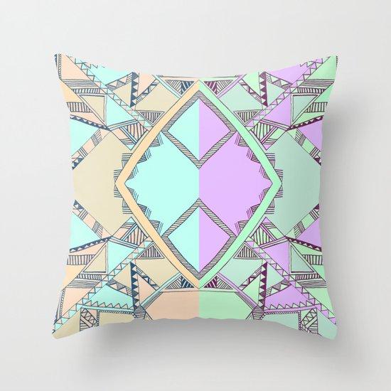 Aztec print illustration Throw Pillow