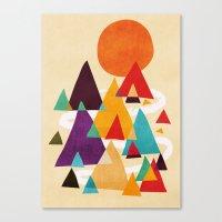 Let's visit the mountains Canvas Print