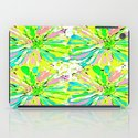 Dahlia Blue Green and Pink iPad Case