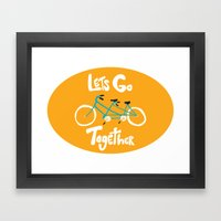 Life's more fun when we're together Framed Art Print