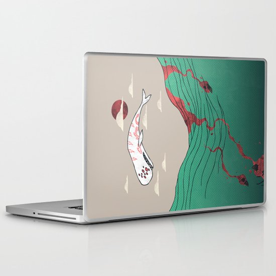 White Whale Laptop & iPad Skin