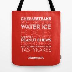 Philadelphia — Delicious City Prints Tote Bag