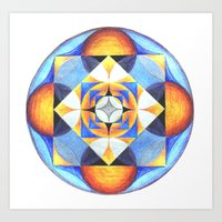 Solar Kaleidoscope (ANAL… Art Print