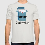 Talk To The Hand Mens Fitted Tee Silver SMALL