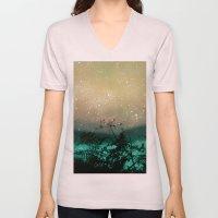 Night Sky Flowers Unisex V-Neck