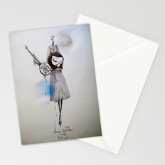 songs that were blue, songs that were grey Stationery Cards