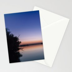 Sunset at the lake. Stationery Cards