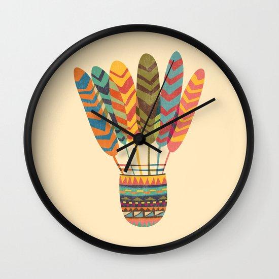 Rustic shuttlecock Wall Clock