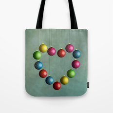 Christmas time heart Tote Bag