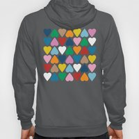 Up And Down Hearts On Gr… Hoody