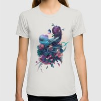 Birds Womens Fitted Tee Silver SMALL