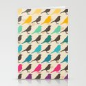 Colorful birds pattern Stationery Cards