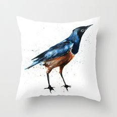 African Starling Throw Pillow