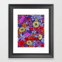 Flower Frenzy Framed Art Print