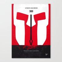 No001 My 300 minimal movie poster Canvas Print