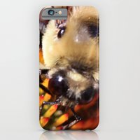 iPhone Cases featuring Happy Bee by kealaphotography