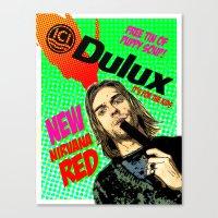Nirvana Red Canvas Print